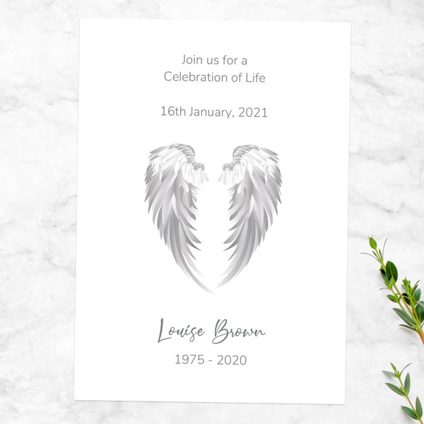 funeral-celebration-life-invitations-grey-angel-wings