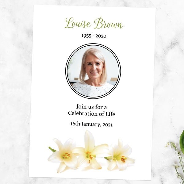 funeral-celebration-of-life-invitations-three-lilies