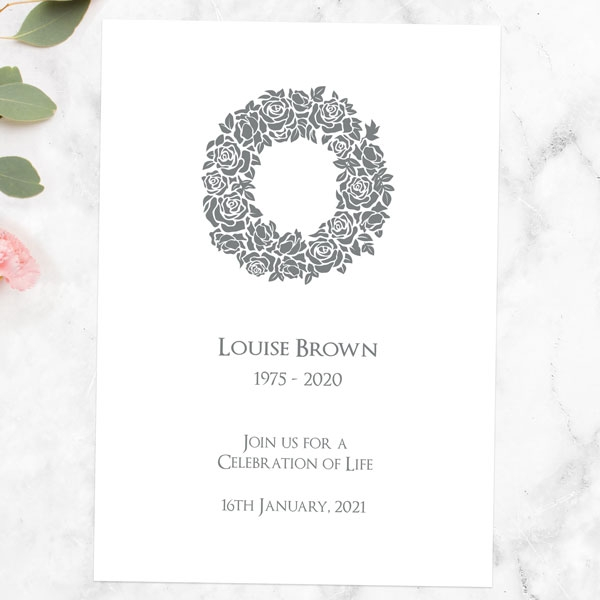 funeral-celebration-life-invitations-rose-wreath