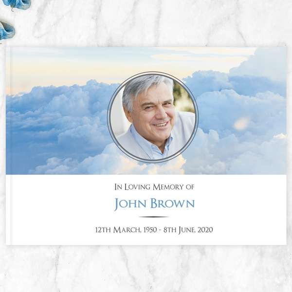 Condolence Guest Book Heavenly Clouds