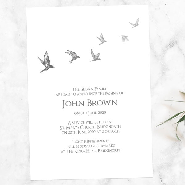 funeral-announcement-cards-grey-flying-birds