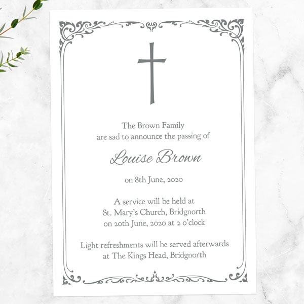 funeral-announcement-cards-ornate-cross-border