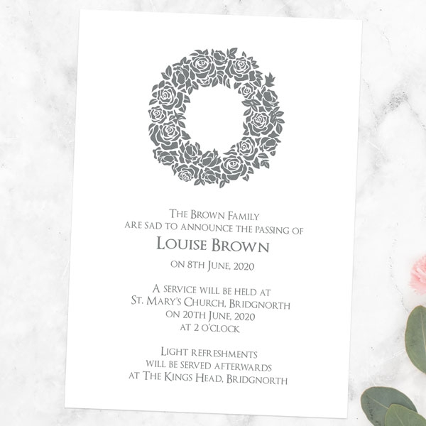 funeral-announcement-cards-rose-wreath