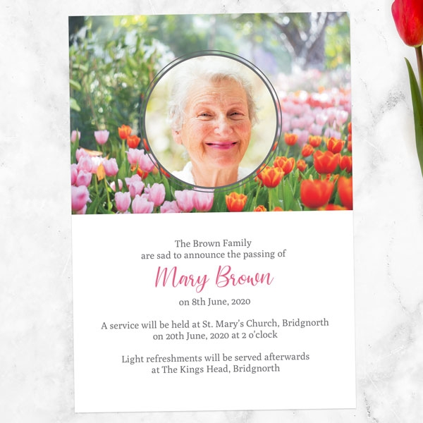 funeral-announcement-cards-spring-tulips