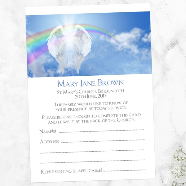 funeral-attendance-cards-angelic-wings-rainbow