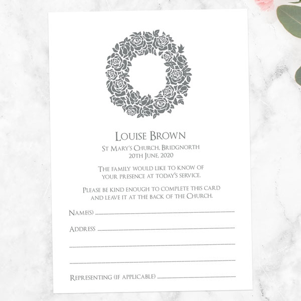 funeral-attendance-cards-rose-wreath