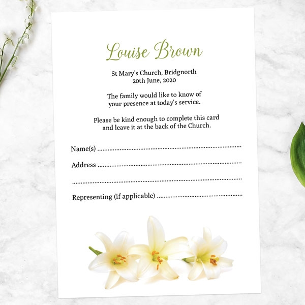 funeral-attendance-cards-three-lilies