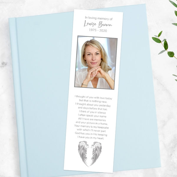 funeral-bookmark-grey-angel-wings