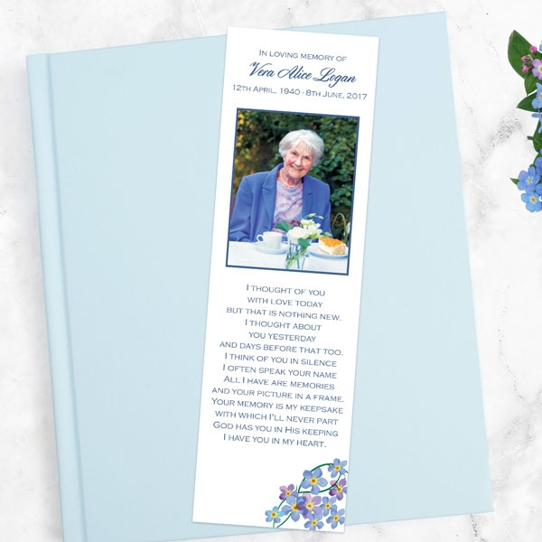 funeral-bookmark-forget-me-not-frame