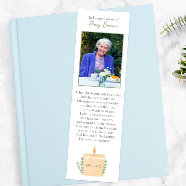 funeral-bookmark-in-loving-memory-candle