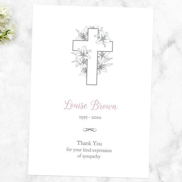 funeral-thank-you-cards-white-lilies-cross
