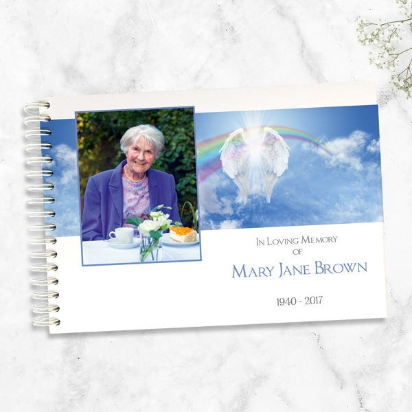 condolence-guest-book-angelic-wings-rainbow