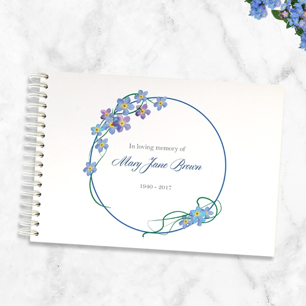 condolence-guest-book-forget-me-not-frame