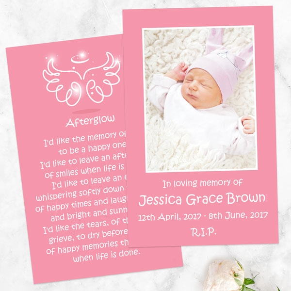 funeral-memorial-cards-bright-pink-angel-wings-halo