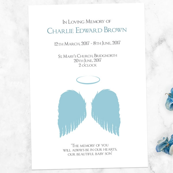 funeral-order-of-service-blue-angel-wings