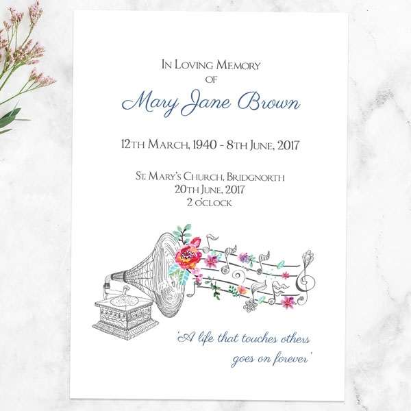 funeral-order-of-service-musical-notes-flowers