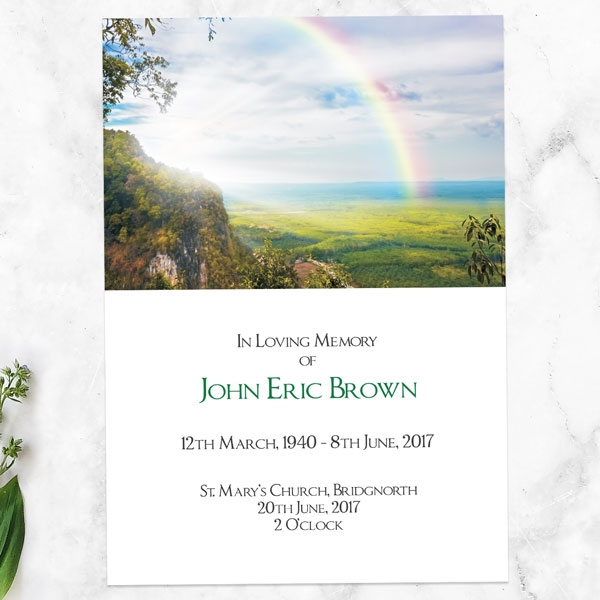 funeral-order-of-service-rainbow-view