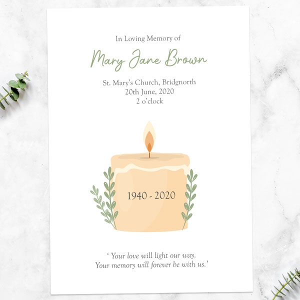 funeral-order-of-service-in-loving-memory-candle