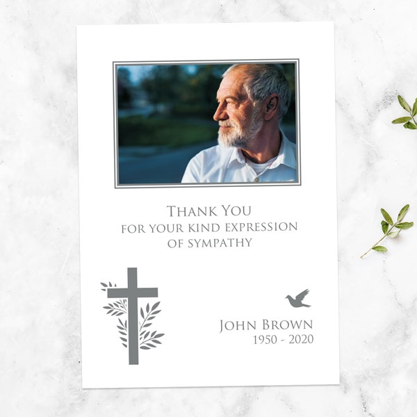 funeral-thank-you-cards-bird-cross-photo-silhouette