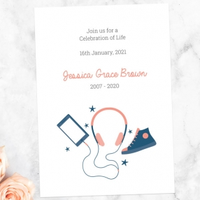 funeral-celebration-life-invitations-coral-navy-teenage-music