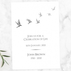 funeral-celebration-life-invitations-grey-flying-birds