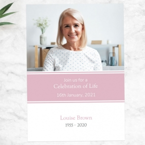 funeral-celebration-of-life-invitations-pink-photograph-memories