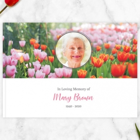 Condolence Guest Book Spring Tulips Thumbnail