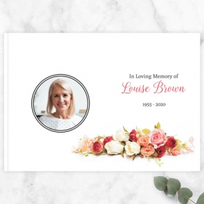 Condolence Guest Book Traditional Roses Photo Thumbnail
