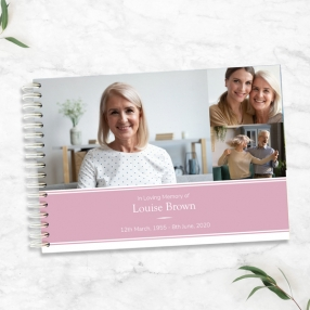 condolence-guest-book-pink-photograph-memories