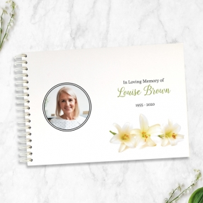 condolence-guest-book-three-lilies