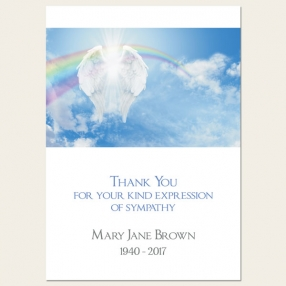 funeral-thank-you-cards-angelic-wings-rainbows