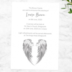 funeral-announcement-cards-grey-angel-wings