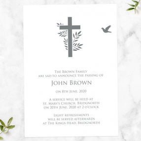 funeral-announcement-cards-bird-cross-photo-silhouette
