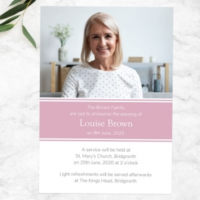 funeral-announcement-cards-pink-photograph-memories