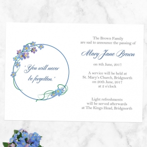 funeral-announcement-cards-forget-me-not-frame