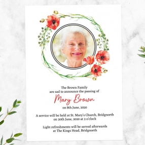 funeral-announcement-cards-watercolour-poppy-garland