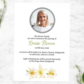 funeral-announcement-cards-three-lilies