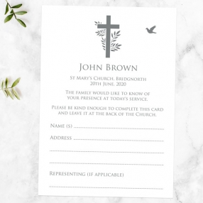 funeral-attendance-cards-bird-cross-photo-silhouette