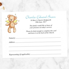 funeral-attendance-cards-blue-teddy-bear-angel