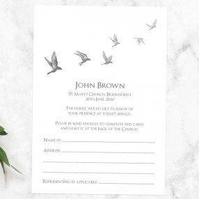funeral-attendance-cards-grey-flying-birds