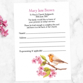 funeral-attendance-cards-watercolour-blossom-branch-robin