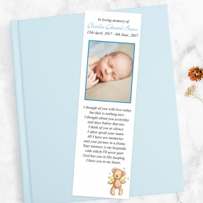 funeral-bookmark-blue-teddy-bear-angel