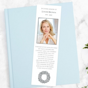 funeral-bookmark-rose-wreath