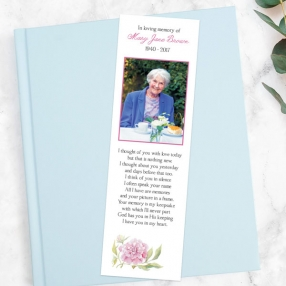funeral-bookmark-watercolour-peony