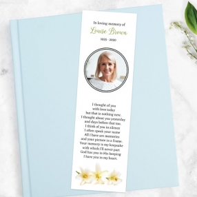 funeral-bookmark-three-lilies