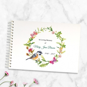 condolence-guest-book-watercolour-bird-garland
