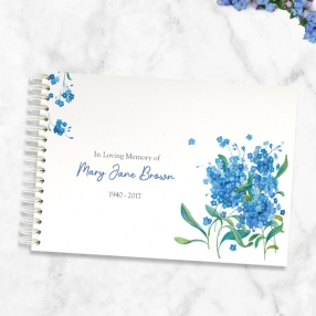 condolence-guest-book-watercolour-forget-me-nots