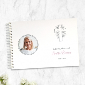 condolence-guest-book-white-lilies-cross