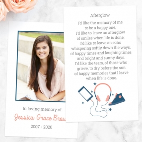 funeral-memorial-cards-coral-navy-teenage-music