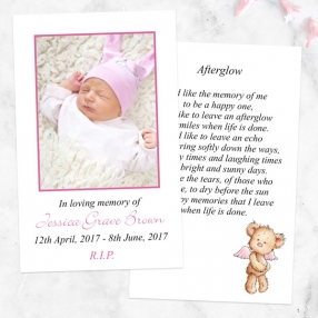 funeral-memorial-cards-pink-teddy-bear-angel